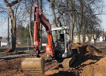 Unser Bagger im Fuhrpark von Berger GmbH Gartenlandschaftsbau